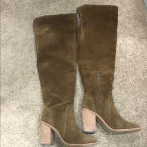 Vince Camuto Tan Suede Over The Knee Boots